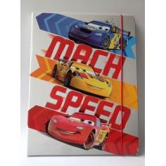 Cars carpetta con elastico - dorso 1 cm