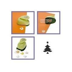Mini perforatore craft punch a leva : forma d albero di Natale