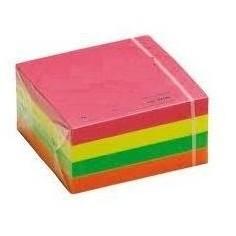 Foglietti adesivi riposizionabili - cubo 76x76 neon