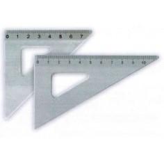 Mini squadretta in alluminio 45° 10cm - Koh-i-noor