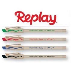 4 Penne PaperMate Replay New  Cancellabile -  prezzo in offerta