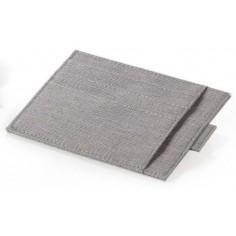 Greenwitch porta carte di credito 6 posti in tessuto tipo jeans - beige