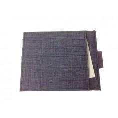 Greenwitch porta carte di credito 6 posti in tessuto tipo jeans - blu