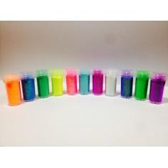 Brillantina in polvere in barattolo da 8 gr - colori fluo