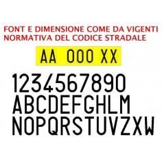 7 Lettere e numeri adesivi per targa ripetitrice e rimorchio - nero opaco alta qualità