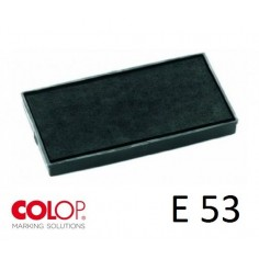 Tampone cuscinetto per timbro Colop E53 nero - PRE INCHIOSTRATO