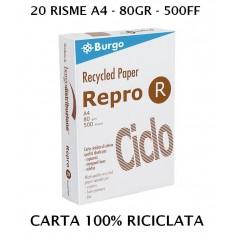 20 risme carta per fotocopie RICICLATA 100% - 80gr - 10.000ff - ottima qualità - IN OFFERTA