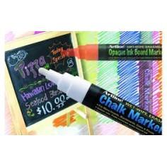 Marcatore effetto gesso ideale per menu e lavagne cancellabili - colore bianco