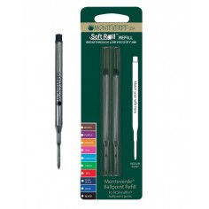 2 Refill roller per Sheaffer -  nero punta media - kit 2 refill  monteverde