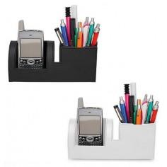 Porta penne + porta cellulare in ecopelle - comodo ed elegante