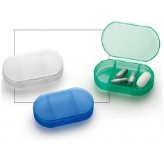 Portapillole mini da 3 scomparti - in PVC resistente colorato