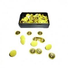Puntine da disegno colorate ottonate - 50 pezzi giallo