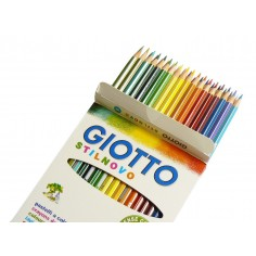 Giotto Stilnovo 12 pastelli a legna con etichetta col nome