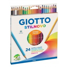 Giotto Stilnovo 24 pastelli a legna con etichetta col nome