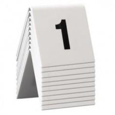 Numeri per tavoli da 1 a 10 per ristoranti, bar pizzerie ecc - in pvc bianco bifacciale