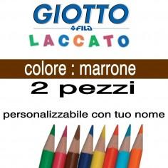 2 pastelli Giotto laccato mina 3,3 mm - colore marrone - GIOTTO LACCATO SFUSO