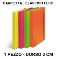 4 raccoglitori portaprogetti con elastico in PPL colori fluorescenti