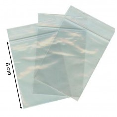 100 buste trasparenti con chiusura a pressione - 4x6 - bustine zip