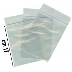 100 buste trasparenti con chiusura a pressione - 12x17 - bustine zip