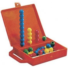 Amico abaco in valigetta da 16 aste e 36 palline vari colori ottima qualità