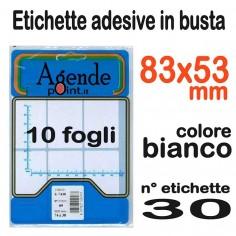Etichette adesive bianche 73x37 - 60 etichette