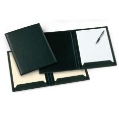 Cartella alla firma in ecopelle con doppia aletta fermafoglio - 21x29,7 nero