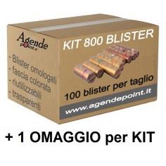Blister contenitori per monete euro 800 pezzi assortiti 100 pezzi per taglio in plastica trasparente