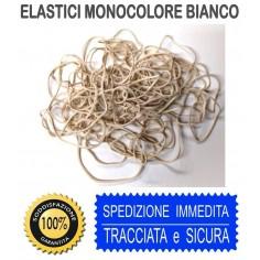 Elastici bianco monocolore in busta  25 gr misure assortite
