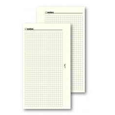 Ricambio fogli a quadri avorio 95x170 ( 50 fogli ) fogli per agenda organizer