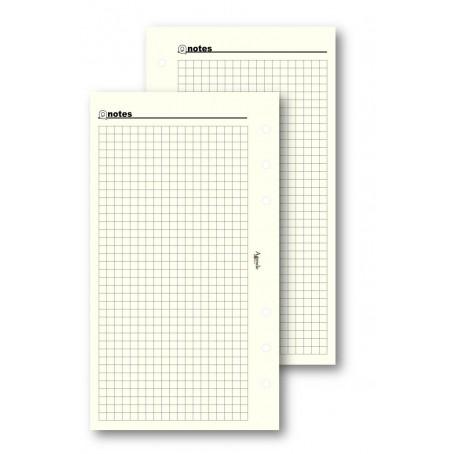 Ricambio fogli a quadri avorio 9,5x17 - 50 fogli - per agenda organizer
