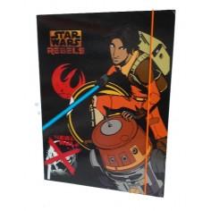 Star Wars carpetta con elastico - dorso 1,5 cm  con 3 alette