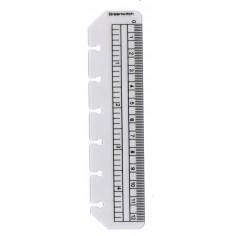 Righello per agenda organizer 7,7x12 in plastica opaca da 12 cm