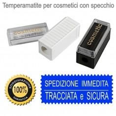 Temperamatite cosmetici 2 fori con specchio