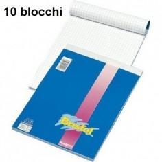 Blocco notes 15x21 A5 quadri 5 mm - 10 pezzi