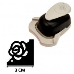 Perforatore fustella per angoli BIG soggetto fiore rosa