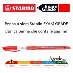 Penna a sfera stabilo exam grade rossa - la penna che conta le pagine