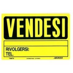 Cartello VENDESI in pvc giallo 20x30 ideale per essere posizione fuori