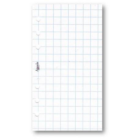 Ricambio fogli a quadri 10 mm bianco 9 5x17 per agenda organizer