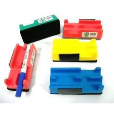 Cancellino magnetico con porta pennarelli  per lavagne cancellabili 11x5
