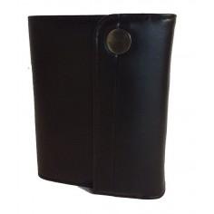 Agenda organizer Diplomat in ecopelle lucida nera 7x12  con bottone