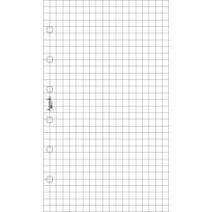 Ricambio fogli a quadri bianco 7x12 per agenda organizer 50 fogli