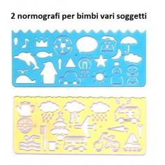 2 Maschere  normografo soggetti vari per bambini soggetti vari