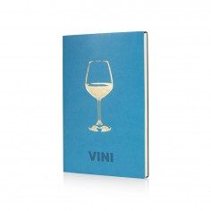 Libro de vini in ecopelle 24x18 turchese