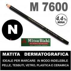MATITA DERMATOGRAFICA 7600 MITSUBISHI - MATITA PER PELLE - NERO
