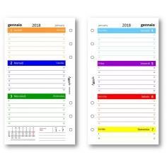 Ricambio agenda 2018 settimanale COLORS 9 5 x 17 in 7 colori ricambio agenda organizer