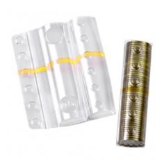 Blister in plastica per monete da 1 euro (100 pezzi) contenitori monete