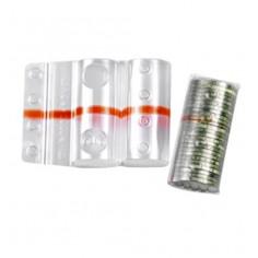 Blister in plastica per monete da 20 cent (100 pezzi) contenitori monete