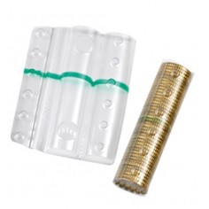 Blister in plastica per monete da 50 cent (100 pezzi) contenitori monete