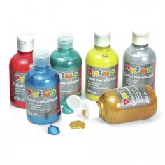 Tempera pronta metallizzata da 300 ml in bottiglia con dosatore alta qualità cmp