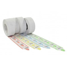 5 rotoli da 2000 tickets  per eliminacode - coda di rondine -  alfa numerate